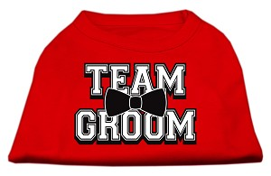 Team Groom Screen Print Shirt Red Sm (10)