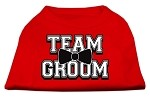 Team Groom Screen Print Shirt Red XS (8)