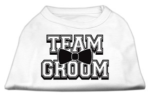 Team Groom Screen Print Shirt White XL