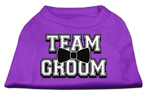 Team Groom Screen Print Shirt Purple XXXL (20)
