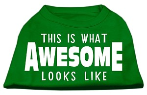 This is What Awesome Looks Like Dog Shirt Emerald Green Lg (14)