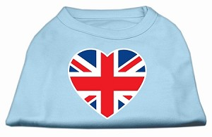 British Flag Heart Screen Print Shirt Baby Blue Med (12)