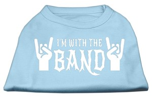 With the Band Screen Print Shirt Baby Blue Sm (10)
