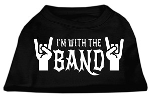 With the Band Screen Print Shirt Black Med (12)