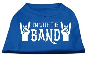 With the Band Screen Print Shirt Blue Med (12)