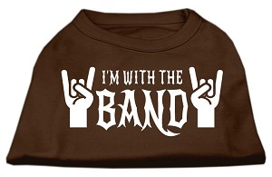 With the Band Screen Print Shirt Brown XS (8)