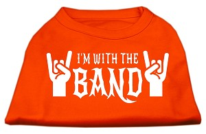 With the Band Screen Print Shirt Orange Sm (10)