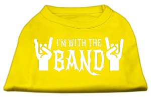 With the Band Screen Print Shirt Yellow Lg (14)