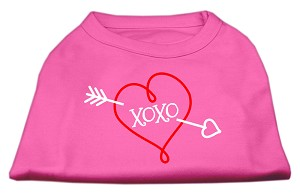 XOXO Screen Print Shirt Bright Pink XL (16)