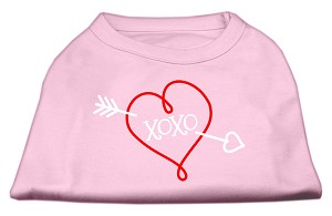 XOXO Screen Print Shirt Light Pink Lg (14)