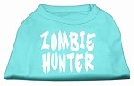 Zombie Hunter Screen Print Shirt Aqua XS (8)