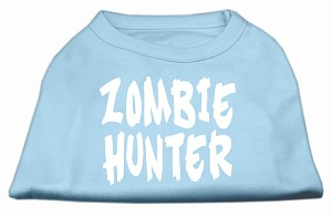 Zombie Hunter Screen Print Shirt Baby Blue M (12)