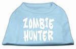 Zombie Hunter Screen Print Shirt Baby Blue XS (8)