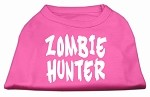 Zombie Hunter Screen Print Shirt Bright Pink XS (8)