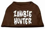 Zombie Hunter Screen Print Shirt Brown XS (8)