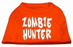 Zombie Hunter Screen Print Shirt Orange XS (8)