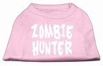 Zombie Hunter Screen Print Shirt Light Pink XS (8)