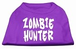 Zombie Hunter Screen Print Shirt Purple XS (8)
