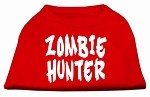 Zombie Hunter Screen Print Shirt Red XS (8)