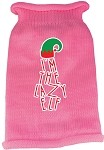 Lazy Elf Screen Print Knit Pet Sweater Light Pink Lg (14)
