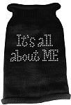 It's All About Me Rhinestone Knit Pet Sweater XL Black