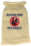 Back Yard Security Screen Print Knit Pet Sweater LG Cream
