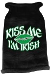Kiss Me Im Irish Screen Print Knit Pet Sweater MD Black
