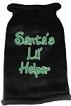 Santas Lil Helper Screen Print Knit Pet Sweater LG Black