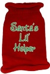 Santas Lil Helper Screen Print Knit Pet Sweater XS Red