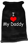 I Heart Daddy Screen Print Knit Pet Sweater MD Black