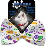 Mardi Gras Masks Pet Bow Tie