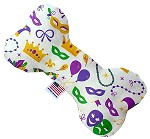 Mardi Gras Masks 6 inch Bone Dog Toy