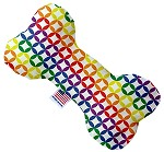 Rainbow Bright Diamonds 6 inch Stuffing Free Bone Dog Toy