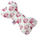 Pink Whimsy Cupcakes 8 inch Stuffing Free Bone Dog Toy
