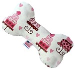 Pink Fancy Cakes 6 inch Stuffing Free Bone Dog Toy
