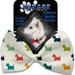 It is a Westie's World Pet Bow Tie Collar Accessory with Velcro