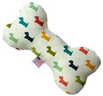 It is a Westie's World 6 inch Canvas Bone Dog Toy