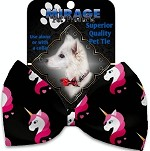 Pretty Pink Unicorns Pet Bow Tie