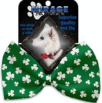 Shamrock Pet Bow Tie Collar Accessory with Velcro