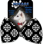 Jerusalem Cross Pet Bow Tie