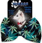 Mary Jane Blues Pet Bow Tie Collar Accessory with Velcro