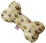 Mocha Paws and Bones 8 inch Stuffing Free Bone Dog Toy