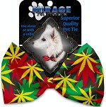 Rasta Mary Jane Pet Bow Tie Collar Accessory with Velcro