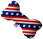Stars and Stripes 6 inch Canvas Bone Dog Toy