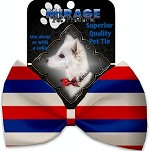 Patriotic Stripes Pet Bow Tie
