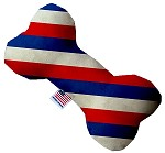 Patriotic Stripes 8 inch Stuffing Free Bone Dog Toy