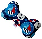 Anchors Away 6 inch Canvas Bone Dog Toy