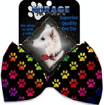Rainbow Paws Pet Bow Tie Collar Accessory with Velcro