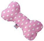Pink Polka Dots 6 inch Bone Dog Toy