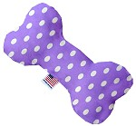 Purple Polka Dots 6 inch Bone Dog Toy